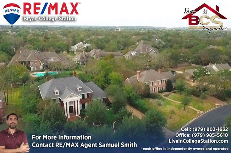southwood forest college station texas aerial view of neighborhood