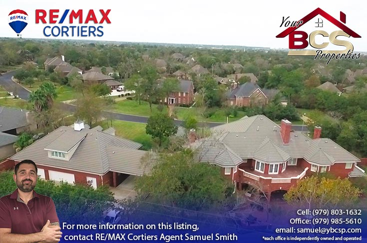 southwood forest college station texas aerial view of grand home