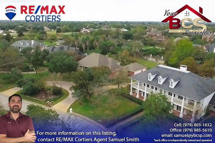 southwood forest college station texas aerial view of suburb