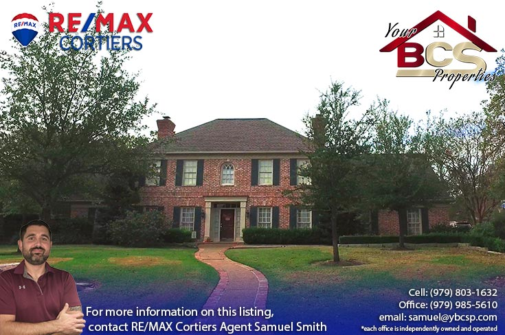southwood forest college station texas large home with curb appeal