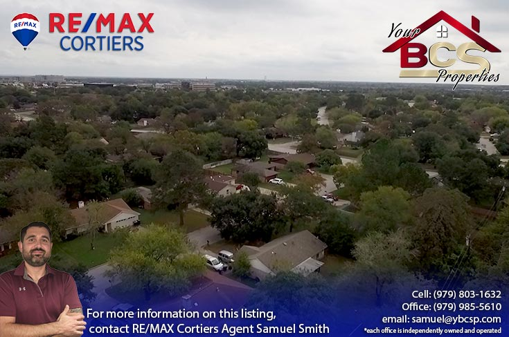 southwood valley college station tx aerial view of subdivision