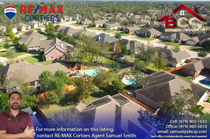 spring meadows subdivision college station texas aerial view of area