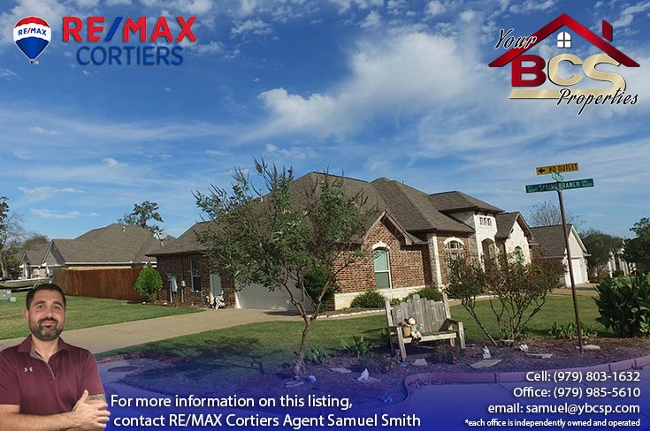 spring meadows subdivision college station texas corner lot home
