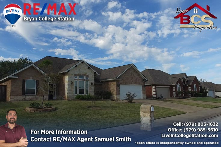 spring meadows subdivision college station texas home with curb appeal