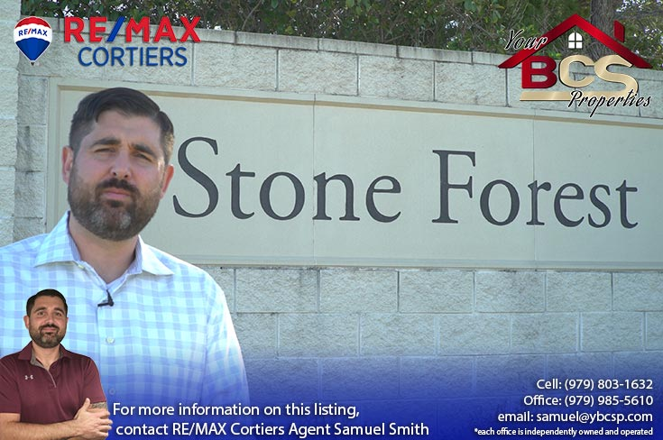 stone forest college station tx entrance marker