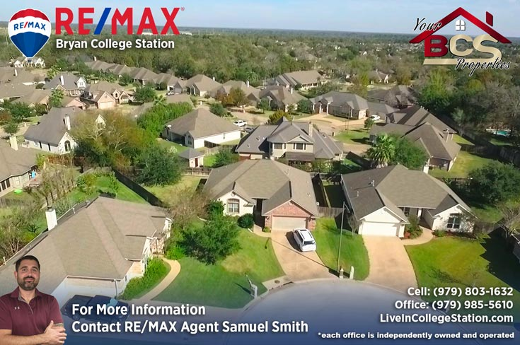 stone forest college station tx aerial view of homes
