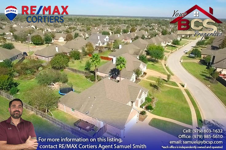 stone forest college station tx aerial view of neighborhood