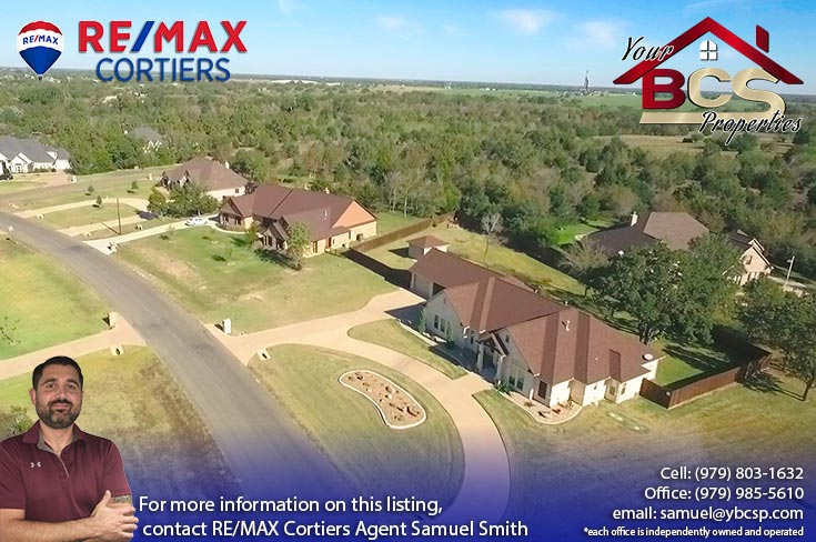stonebrier subdivision bryan texas aerial view of homes