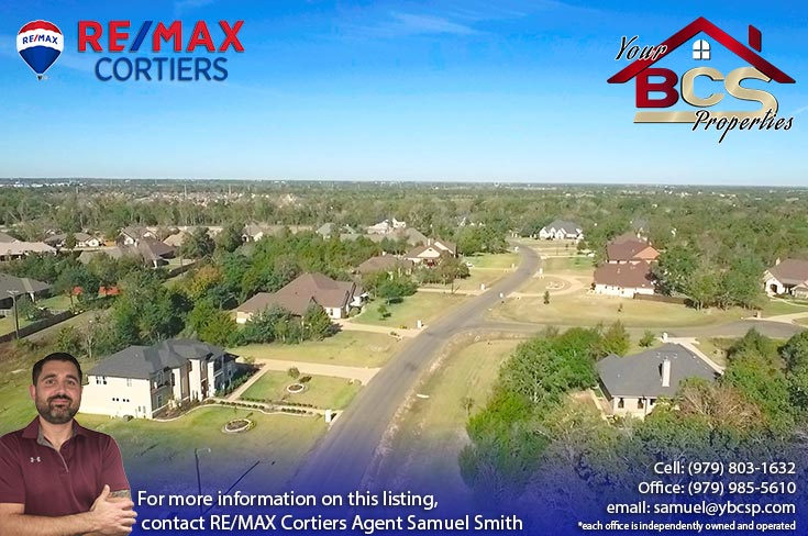 stonebrier subdivision bryan texas aerial view of neighborhood