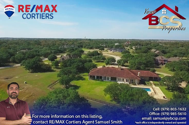 sweetwater neighborhood college station tx aerial view of home with pool