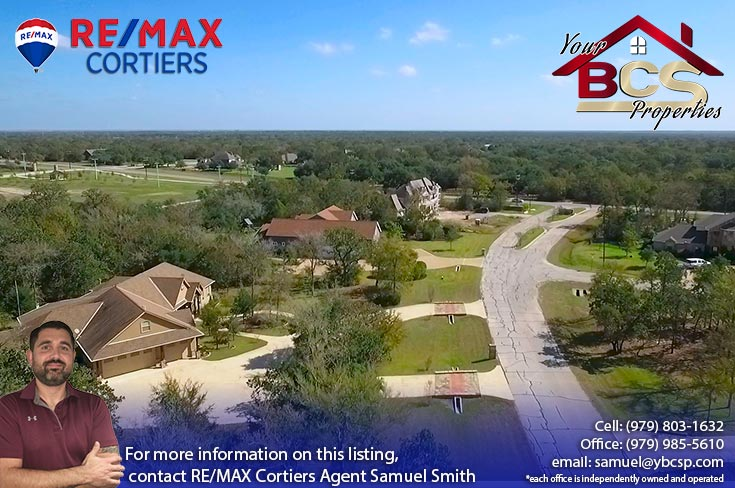 sweetwater forest college station tx neighborhood aerial view