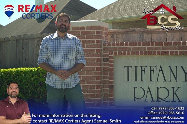 tiffany park subdivision bryan texas entrance landmark