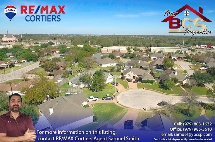tiffany park subdivision bryan texas view of neighborhood and cul-de-sac