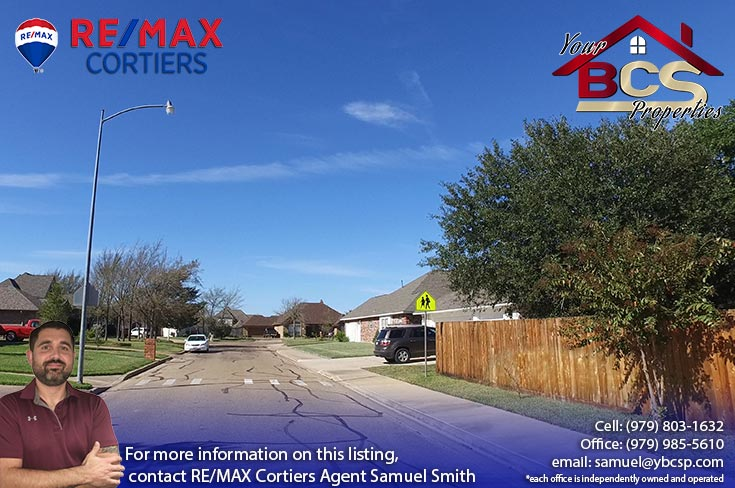 tiffany park subdivision bryan texas view of neighobhood from street