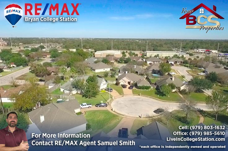 tiffany park subdivision bryan texas view of neighborhood and cul-de-sac