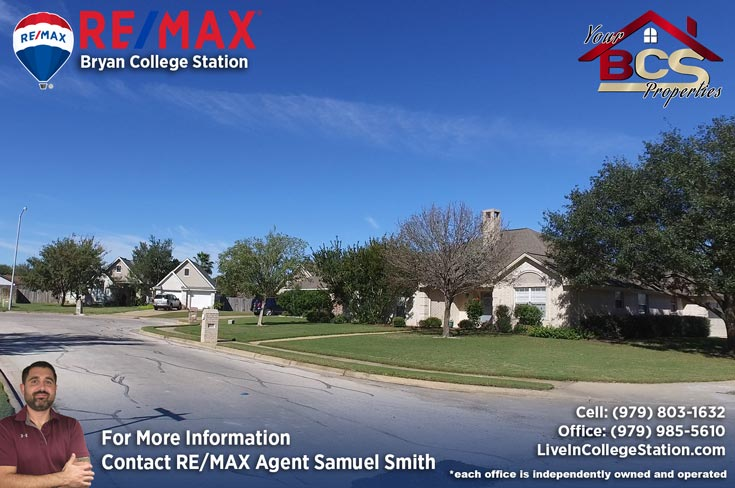 tiffany park subdivision bryan texas home on corner lot