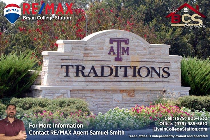 traditions bryan texas entrance landmark
