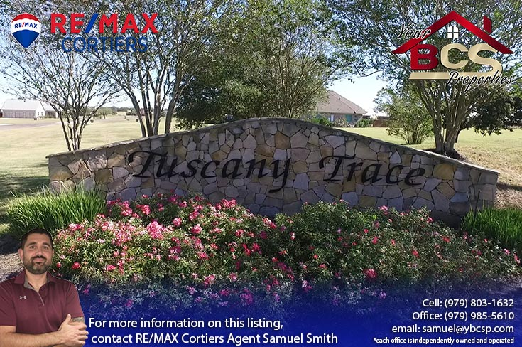 tuscany trace college station entrance gate