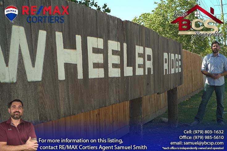 wheeler ridge neighborhood bryan texas land marker