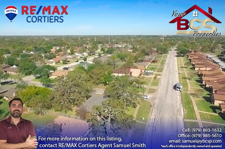wheeler ridge neighborhood bryan texas aerial view of subdivision