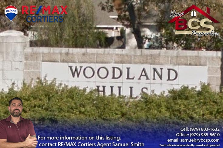 woodland hills subdivision college station texas land marker