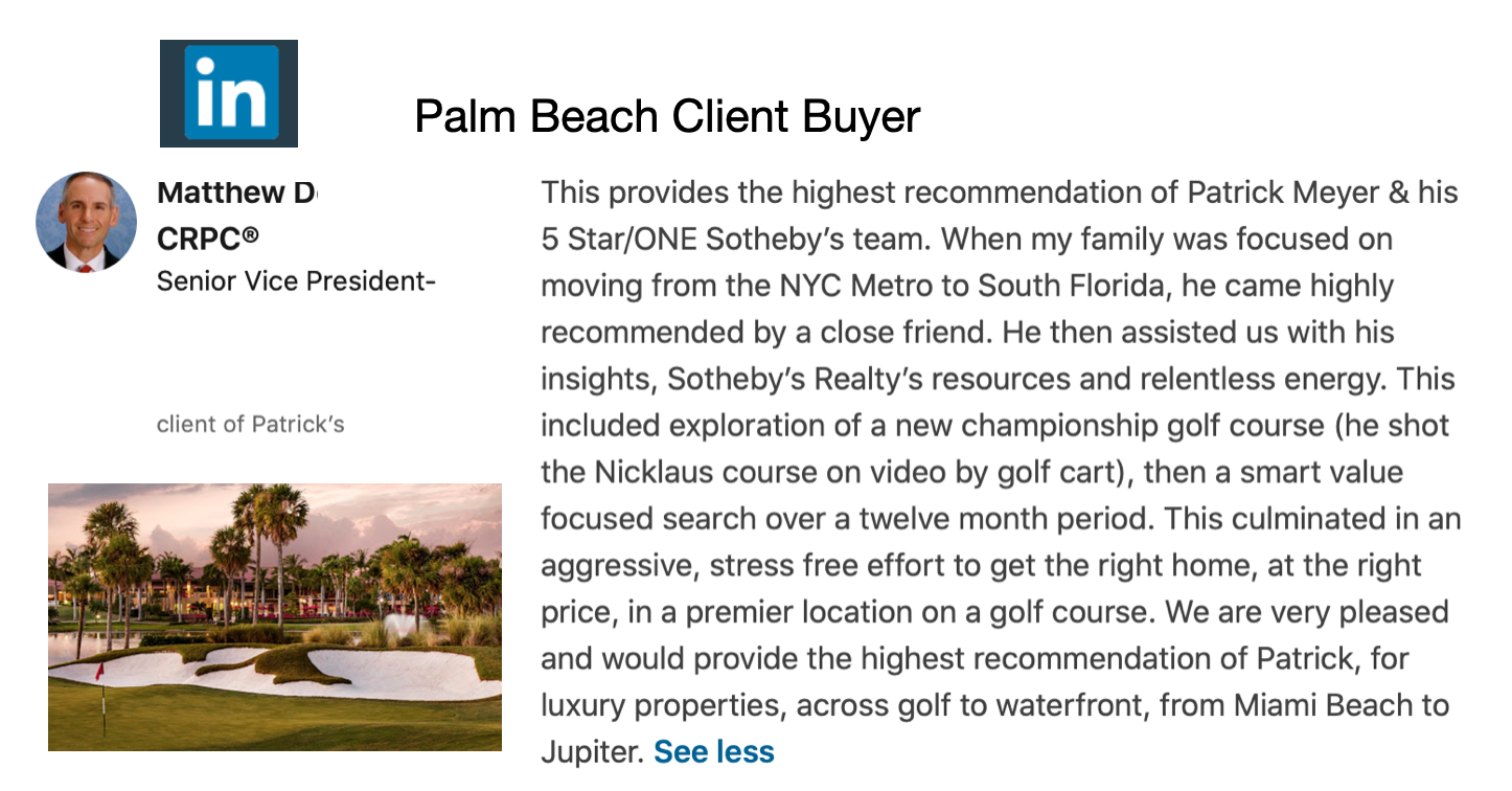 Zillow Positive Review of Patrick Meyer