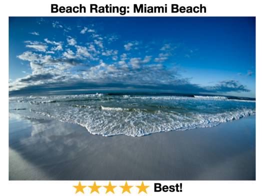 Miami Beach Rating of Beaches