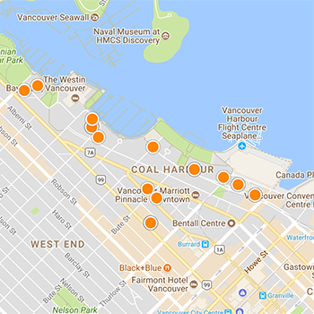 Coal Harbour Interactive Map Search