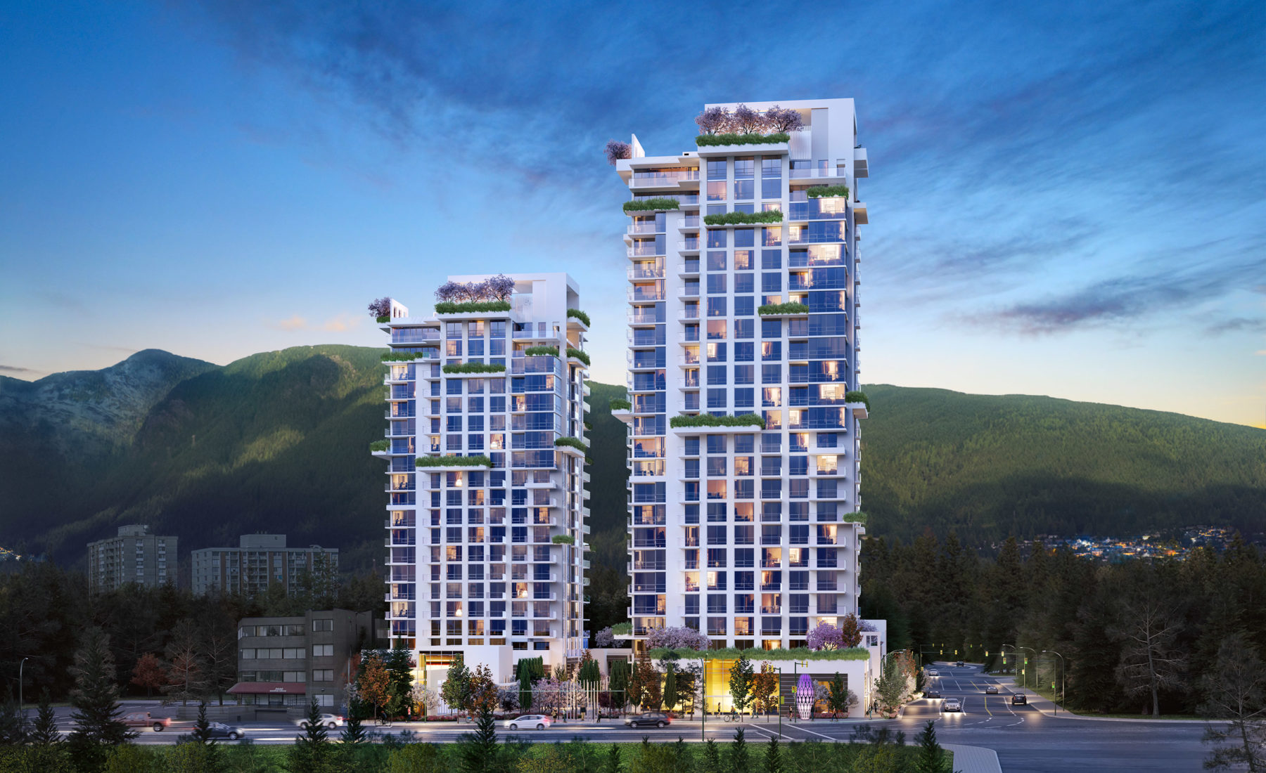 Two Highrise Concrete Towers at Park West at Lions Gate Presale - North Vancouver