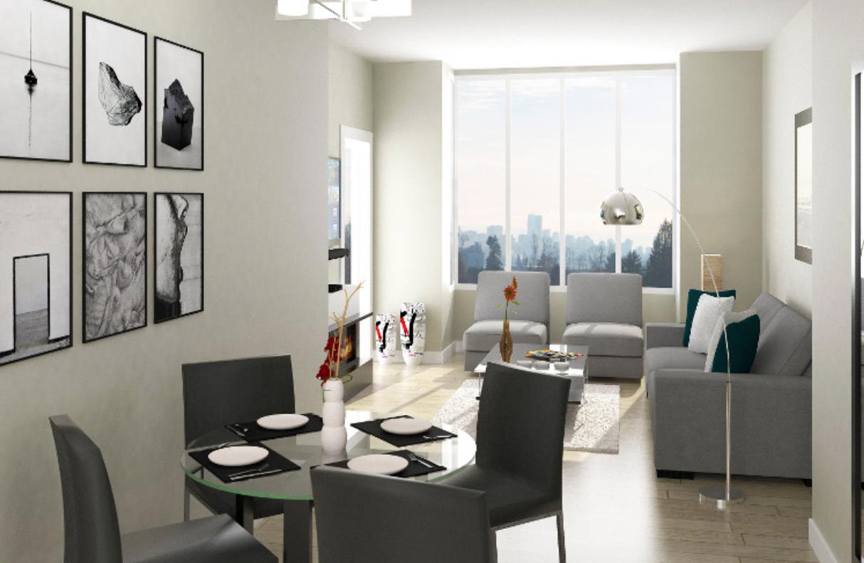 Living Room in Tatlow Homes Presale - North Vancouver