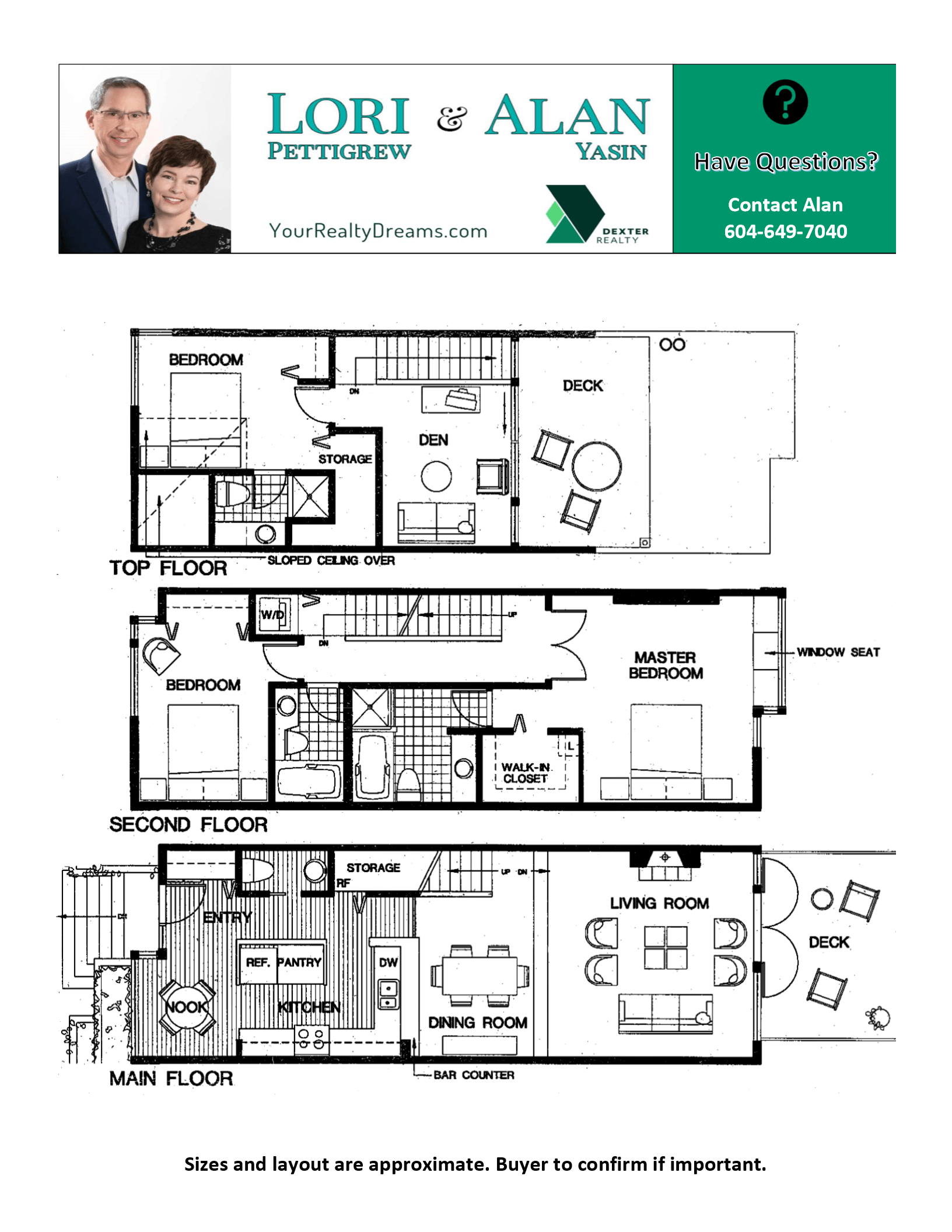 Floor Plan for 2162 E Kent Ave S, Vancouver BC V5P 4X2 River District