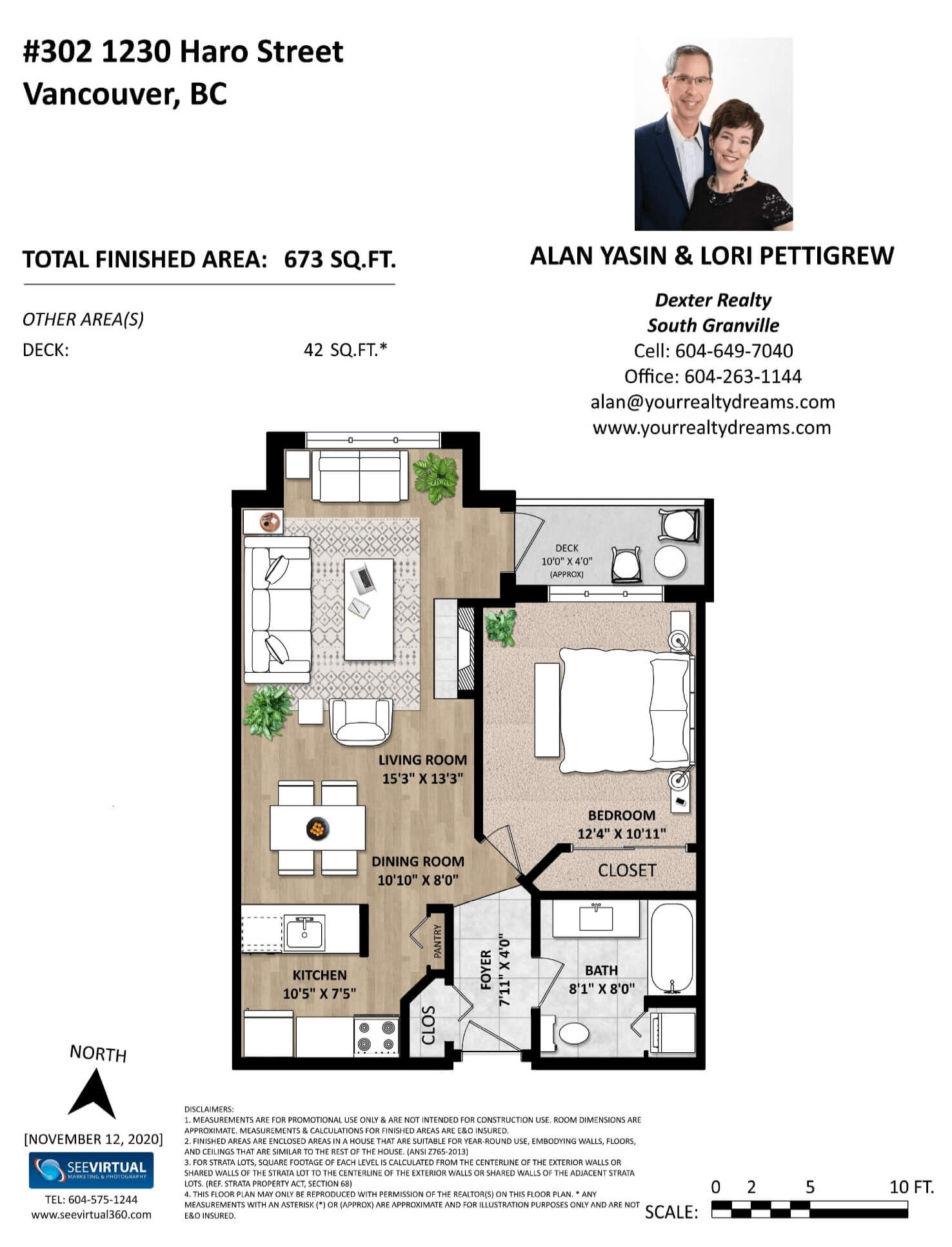 Floorplan - Condo in the West End of Vancouver BC