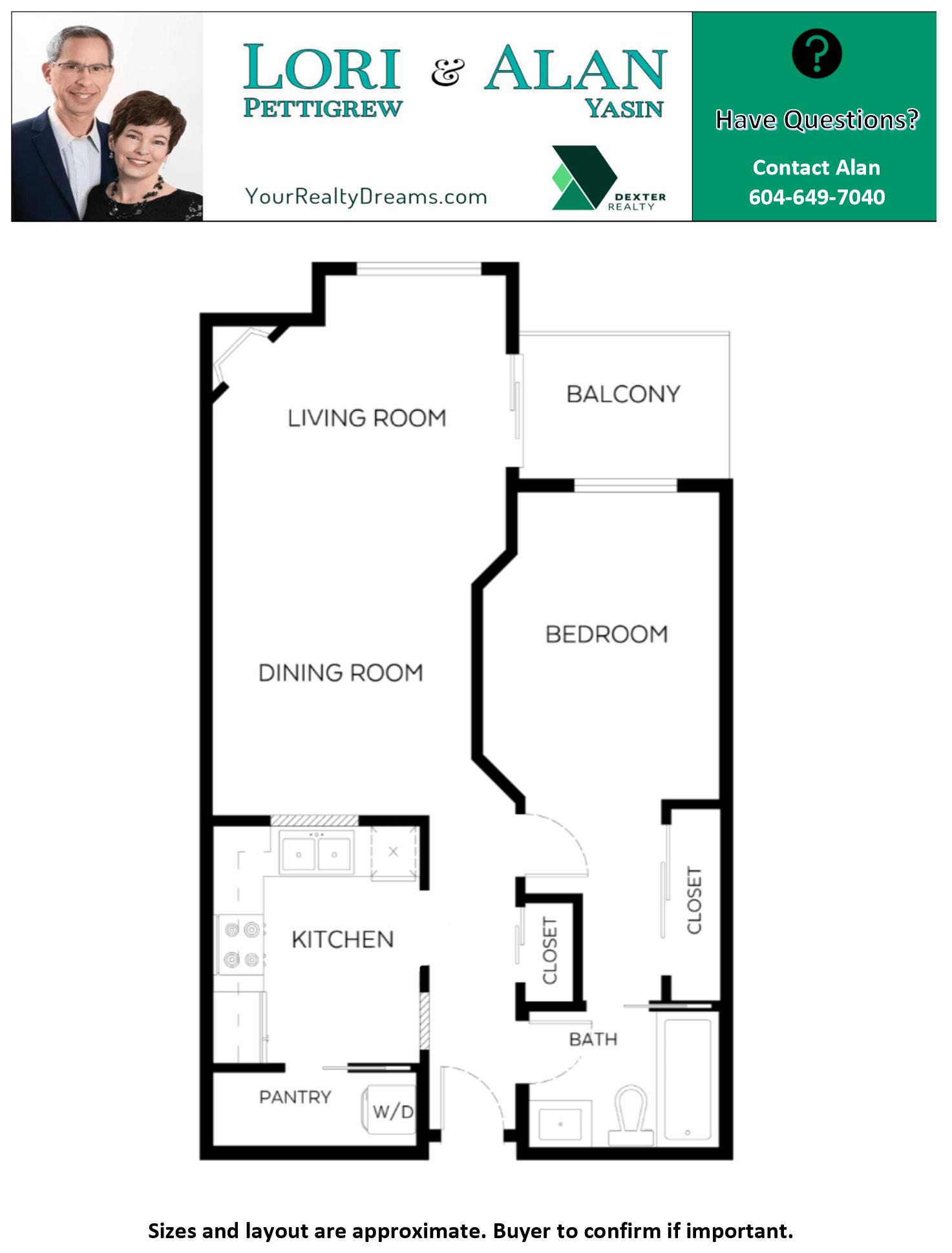 Floor Plan for 408-8495 Jellicoe Street Vancouver BC V5S 2J4 River District