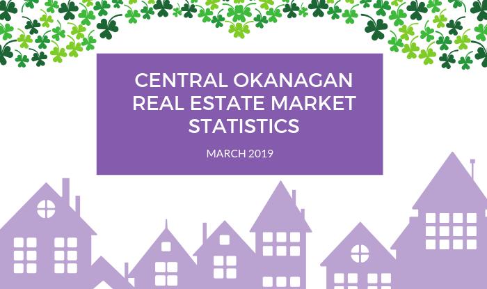 Central Okanagan Real Estate Market Statistics March 2019 Title Image