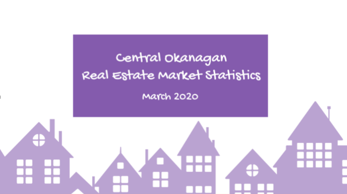 Central Okanagan Real Estate Market Statistics March 2020