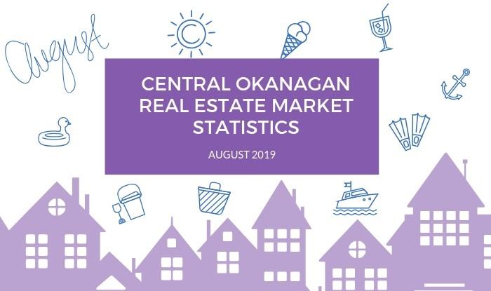 Central Okanagan Real Estate Market Statistics August 2019 Title Image