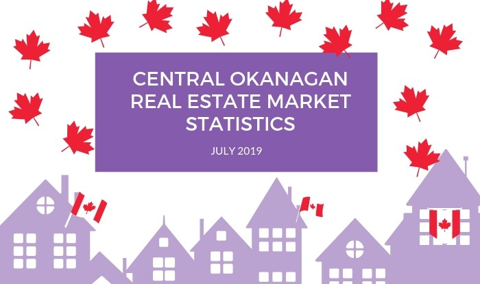 Central Okanagan Real Estate Market Statistics July 2019 Title Image