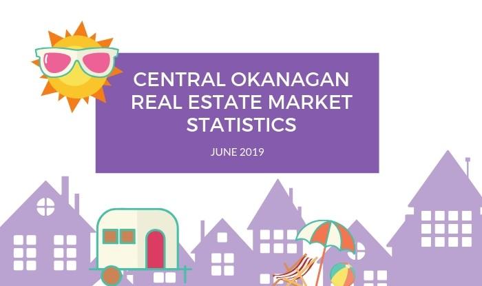 Central Okanagan Real Estate Market Statistics June 2019 Title Image