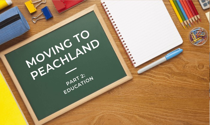 Moving to Peachland Education Amenities Title Image