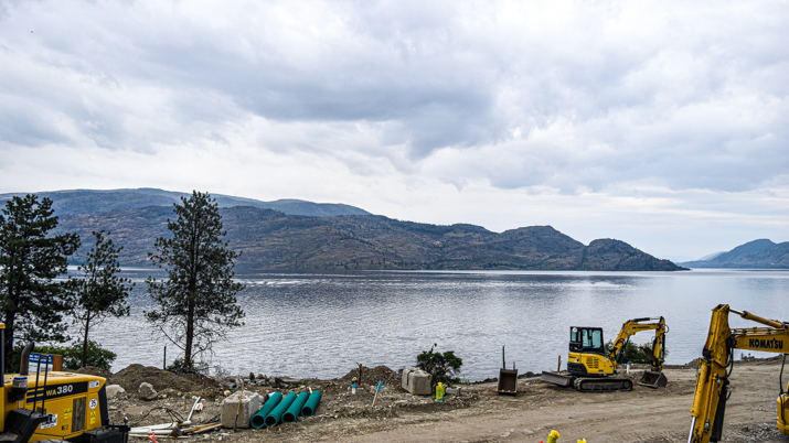 View from Somerset Reach townhome property in Peachland, BC