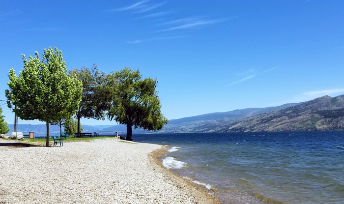 Trepanier Bay Beach, Peachland, BC