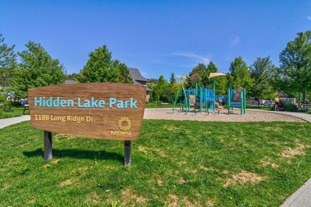 Hidden Valley Park in Wilden development of Kelowna, BC