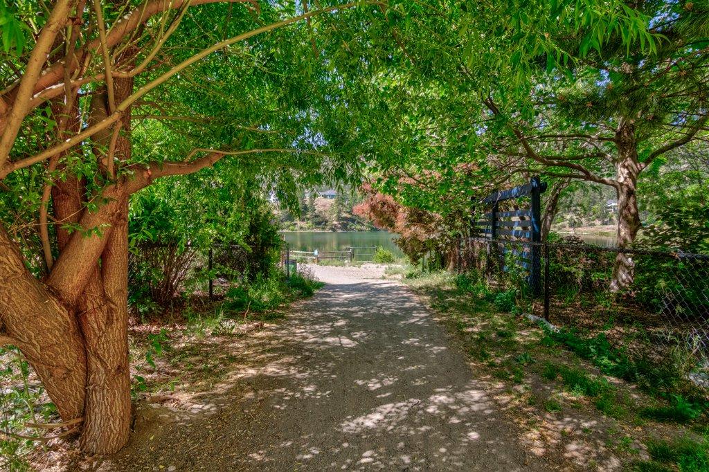 Walking trail to Hidden Lake in Wilden neighborhood kelowna bc