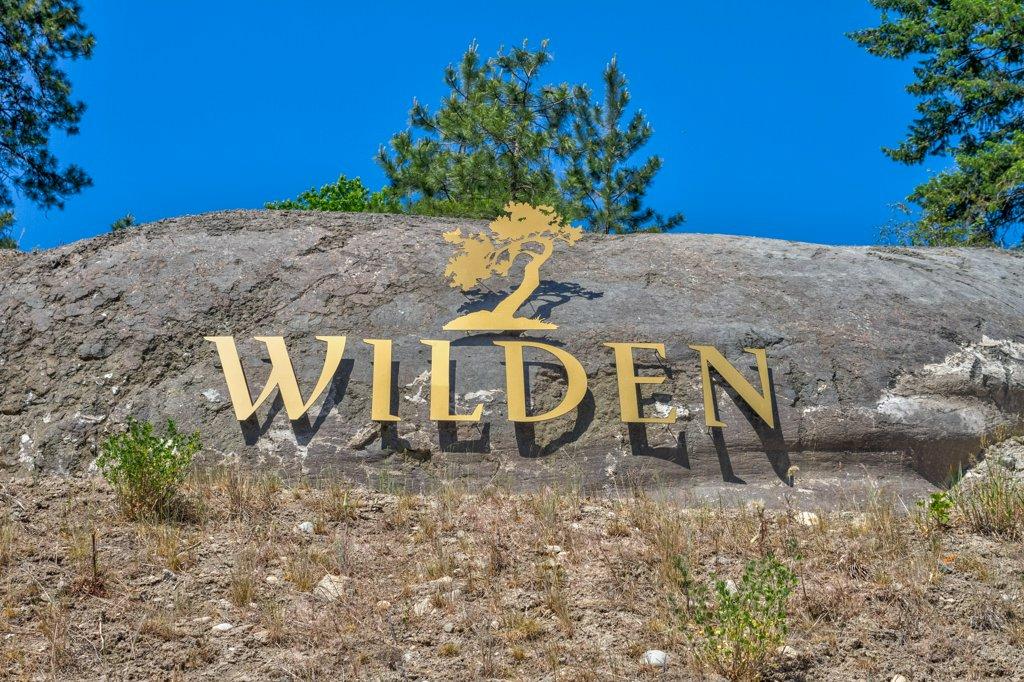 Sign to Wilden neighborhood in Kelowna, BC