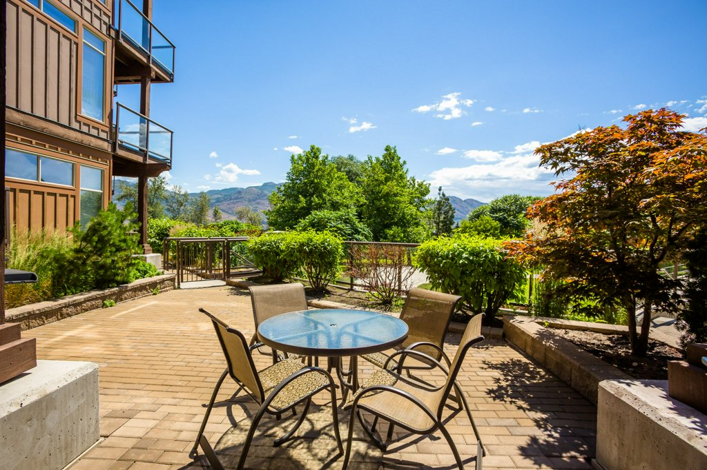 #130 Patio at The Cove Lakeside Resort in West Kelowna, BC