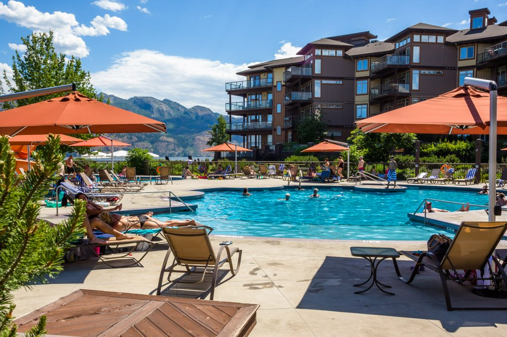 Pool at The Cove Lakeside Resort in West Kelowna, BC